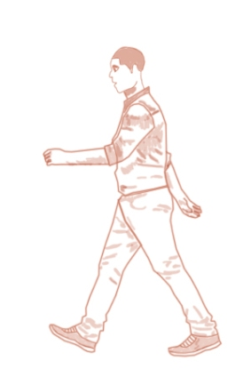 Digital Drawing - Character Walk